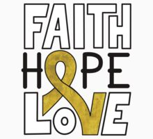 Faith Hope Love - Childhood Cancer Awareness Baby Tee