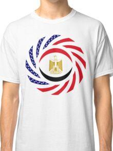 Egyptian American Multinational Patriot Flag Series Classic T-Shirt