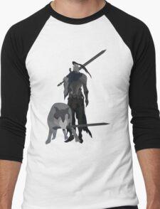 Knight Artorias and the grey wolf Sif Men's Baseball ¾ T-Shirt