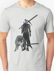 Knight Artorias and the grey wolf Sif T-Shirt