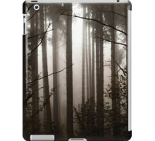 Beautiful pinetrees in the foggy forest, french nature, autumn iPad Case/Skin