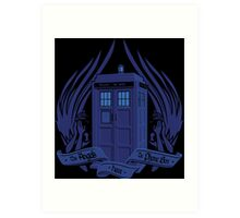 Doctor Who - Angels have the Phone Box Art Print