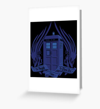 Doctor Who - Angels have the Phone Box Greeting Card