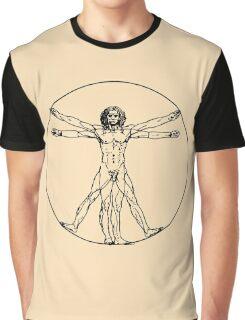 Vitruvian man vector drawing Graphic T-Shirt