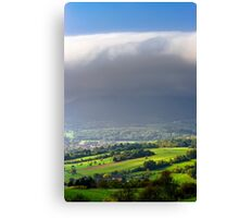 Big white cloud over the beautiful green valley, Alsace, France Canvas Print