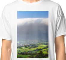 Big white cloud over the beautiful green valley, Alsace, France Classic T-Shirt