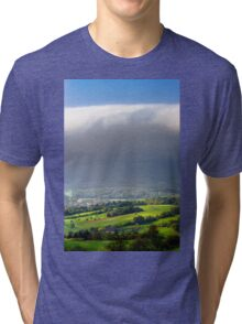 Big white cloud over the beautiful green valley, Alsace, France Tri-blend T-Shirt