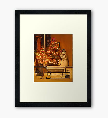 Small Town Christmas Framed Print