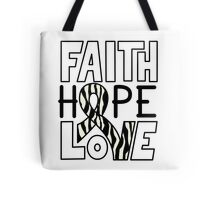 Faith Hope Love - Carcinold Cancer Awareness Tote Bag
