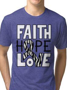 Faith Hope Love - Carcinold Cancer Awareness Tri-blend T-Shirt