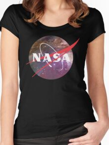 NASA NEBULA LOGO Women's Fitted Scoop T-Shirt