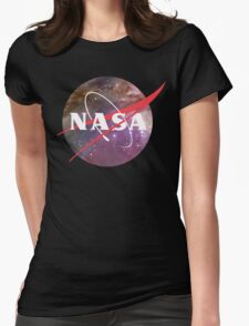 NASA NEBULA LOGO Womens Fitted T-Shirt