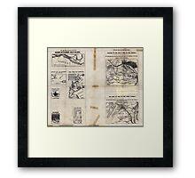 Civil War Maps 1909 War maps and diagrams 03 Framed Print