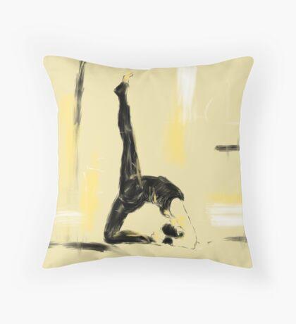 Yoga Bridge Pose  Throw Pillow
