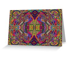 Psychedelic Abstract colourful work 221 Greeting Card