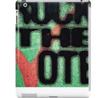 Vintage Rock the Vote iPad Case/Skin