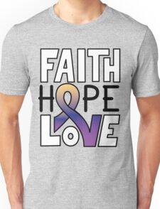 Faith Hope Love - Bladder Cancer Awareness Unisex T-Shirt