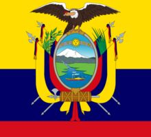 Ecuadorian American Multinational Patriot Flag Series Sticker