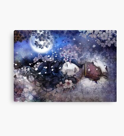 amdist the blossoms Canvas Print