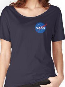 nasa sweatshirt blue Women's Relaxed Fit T-Shirt