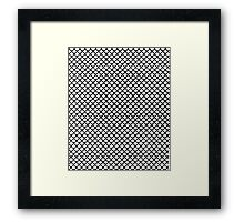 Scales Blanc Framed Print