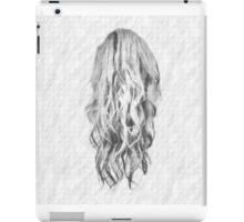 Drawn Hair On Squared Paper iPad Case/Skin
