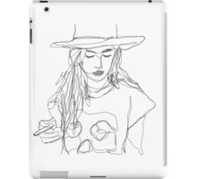 continuous line drawing iPad Case/Skin