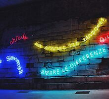 Love the Differences Neon Artwork by jccorc