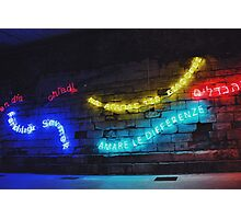 Love the Differences Neon Artwork Photographic Print