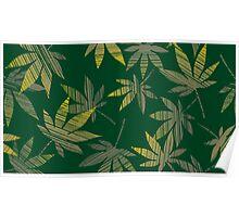 cannabis leafs Poster