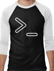 Shell Prompt >_ Indicated with greater than and underscore signs Men's Baseball ¾ T-Shirt