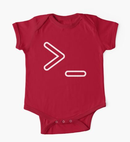 Shell Prompt >_ Indicated with greater than and underscore signs One Piece - Short Sleeve