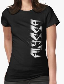 Alyssa Decayed Style Graffiti Tag Womens Fitted T-Shirt
