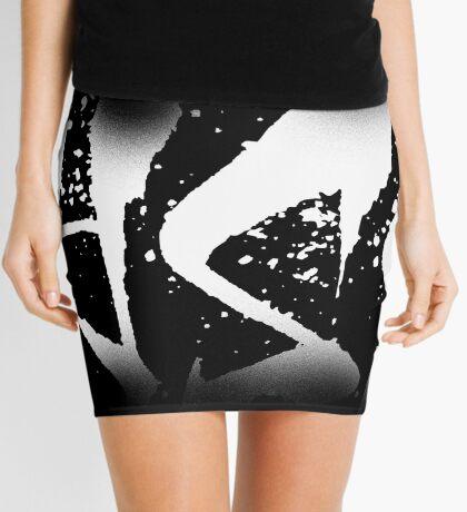 Alyssa Decayed Style Graffiti Tag Mini Skirt