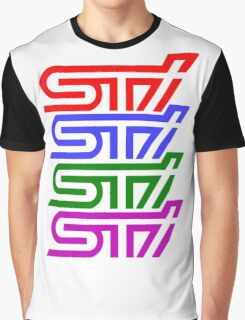 SUBARU IMPREZA STI MULTICOLOUR Graphic T-Shirt