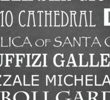 Florence Famous Landmarks Sticker