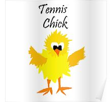 Cool Funny Tennis Chick Cartoon Poster