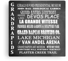 Grand Rapids Famous Landmarks Metal Print