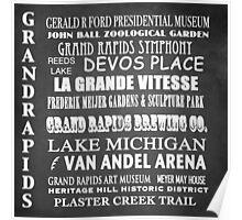 Grand Rapids Famous Landmarks Poster