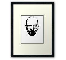 Walter White & Black (No White) Framed Print