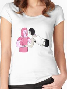 Floatin' Bubbline Women's Fitted Scoop T-Shirt