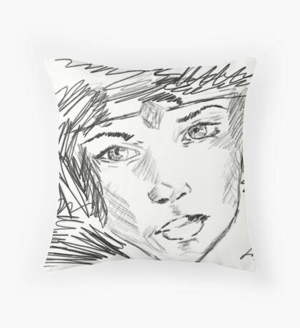 Beautiful Girl With Diadem Throw Pillow