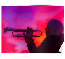 Trumpet Sunset Poster