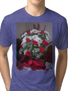 Roses For Christmas Tri-blend T-Shirt