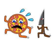 Pizza runs for life! Photographic Print