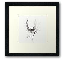 Dancing Fallen Angel - Let's Perform Ballet Framed Print