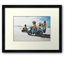 Surfing & Side-cars Framed Print