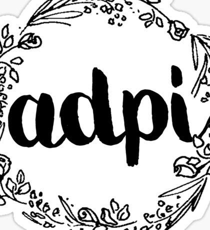 ADPI Flowers Sticker