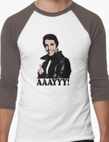 The Fonz Happy Days Aaayyy! T-Shirt Men's Baseball ¾ T-Shirt