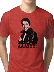 The Fonz Happy Days Aaayyy! T-Shirt Tri-blend T-Shirt